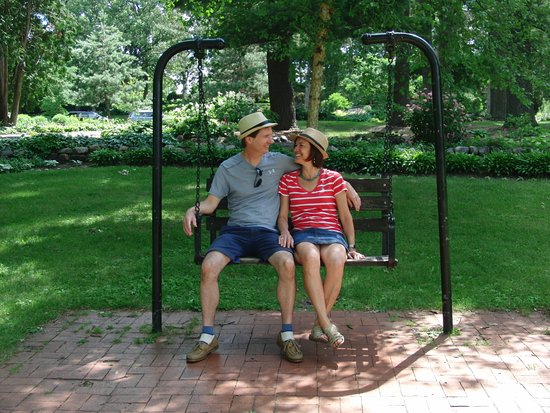 Munsinger Gardens: In 1985 my husband proposed to me on this swing.