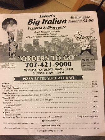 Italian Restaurant Fairfield Ca