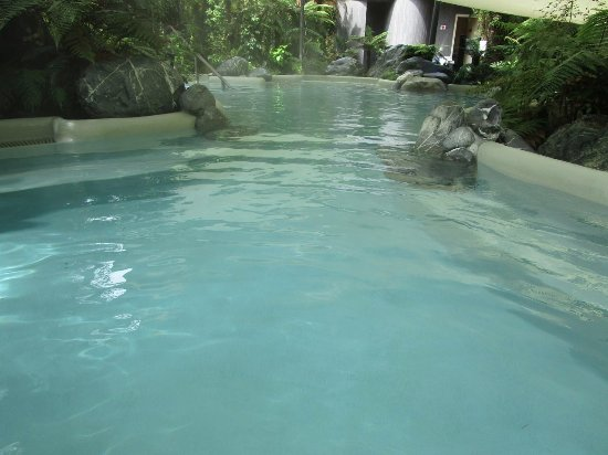 Franz Josef, New Zealand: There are three main public pools each with a temperature of 36, 38 or 40 degrees.