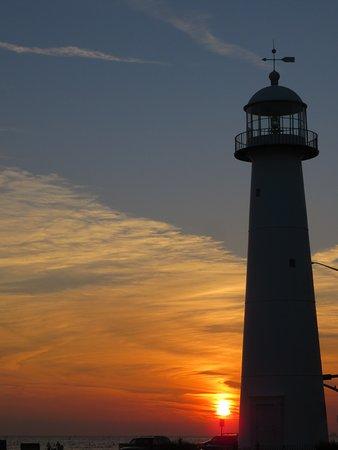 Biloxi Lighthouse: Sunset at the lighthouse