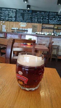 Demanovska Dolina, Slovakia: Semi dark beer
