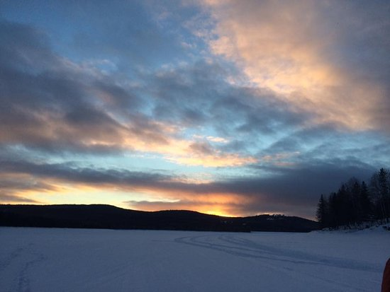 Pittsburg, Nueva Hampshire: Sunset on Lake Frances, warms the heart