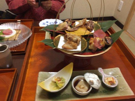 Nishitokyo, Japan: 八寸、揚げ物、焼き物