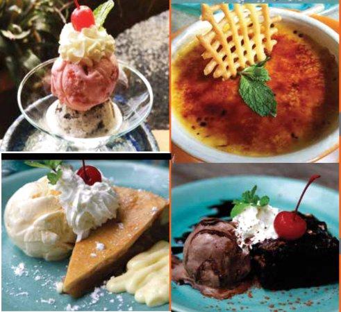 Ceramic Kitchen Phuket: Delicious Dessert selection.