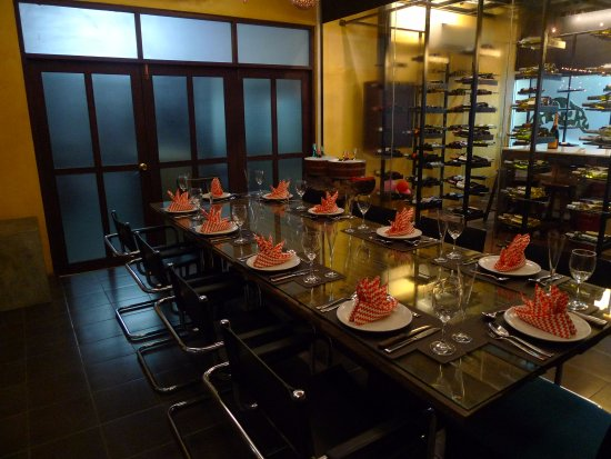 Ceramic Kitchen Phuket : Air conditioned glass room for those extra special occasions.