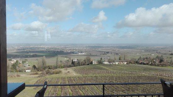 Monbazillac, France: Jolie vue sur les vignes et la vallée de Bergerac