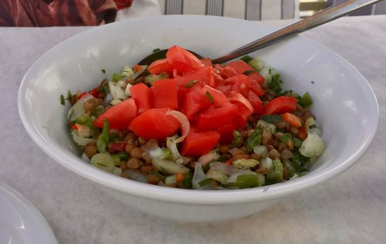Piso Livadi, Greece: Lentil Salad