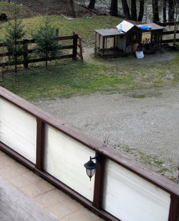Baile Olanesti, Rumania: View from the balcony
