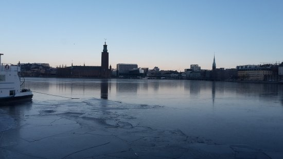 The Red Boat Hotel & Hostel: View from room overlooking Stockholm City Hall