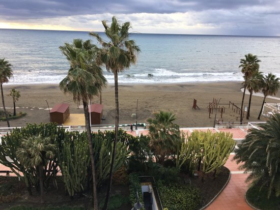 Buenavista: View of the beach from the room in Feb
