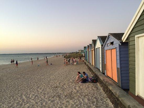 Beach view from Gnotuk Avenue Aspendale, Victoria, Australia