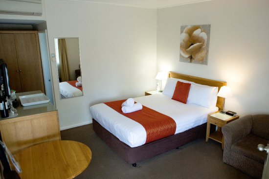 Colonial Lodge Motor Inn: Deluxe Queen room (ground level)