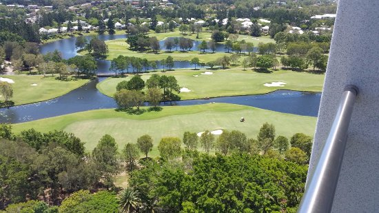 Benowa, Australia: View out over the golf course