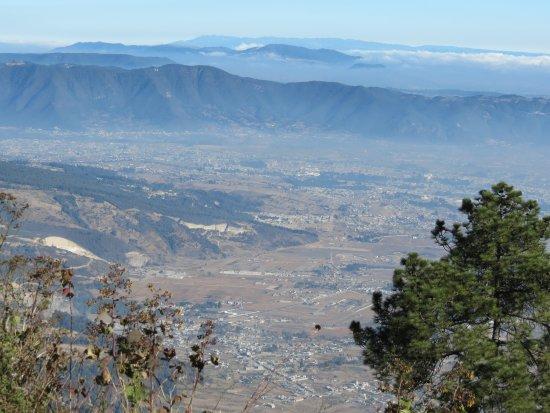 Quetzaltenango, Guatemala: Uitzicht over Xela op 3000m