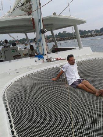 Sail Lanka Charter: on The net aboard the catamaran