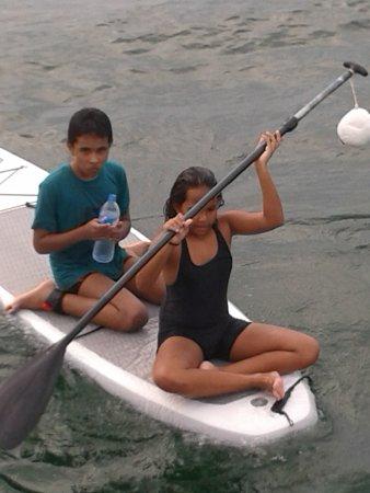 Sail Lanka Charter: on the surf board
