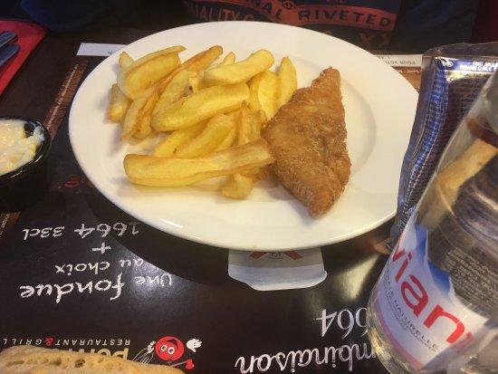 Lunel, France: Plat menu enfant