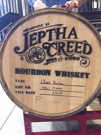Shelbyville, KY: Jeptha Creed bourbon