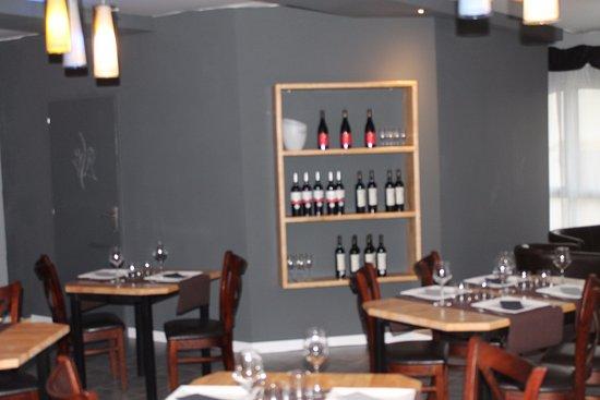 Pomérols, France : Salle restaurant