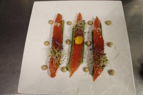 Pomerols, ฝรั่งเศส: Gravlax de Saumon