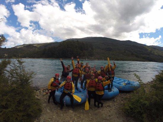 Puerto Bertrand, Chile: al final de paseo, todo el grupo!