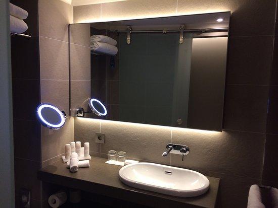 Radisson Blu Hotel, Lyon: La Salle De Bains. Moderne Et Nickel.