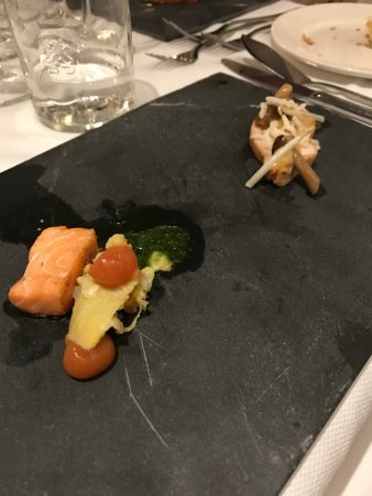 one of their 20 courses served at their 20 course 20 year anniversary dinner