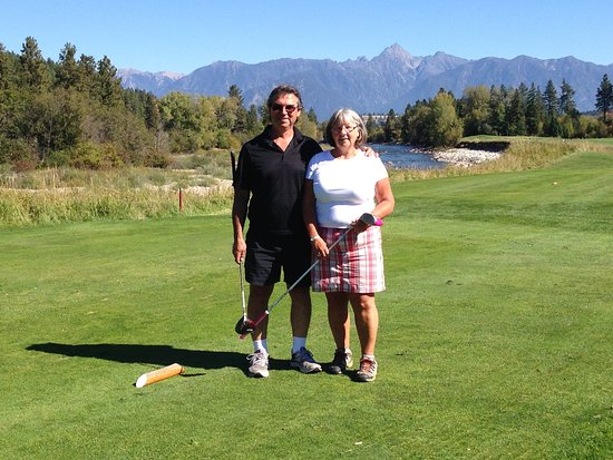 Cranbrook, Kanada: I beleive we were on the 3rd hole, but not entirely sure.
