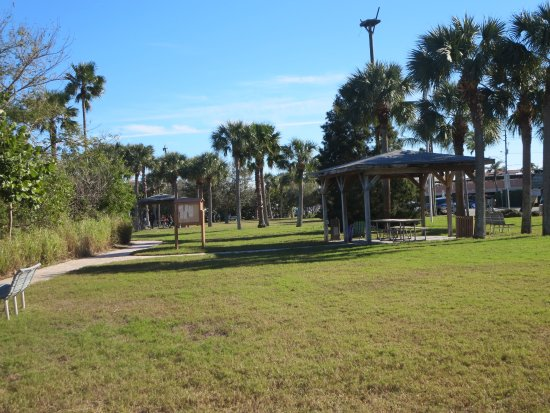 Redington Shores, Flórida: View of the walking path and picnic pavilion
