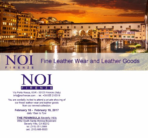 Noi Leather Wholesale and Design: We will be attending a private trunk show in Beverly Hills, CA. Come visit us!