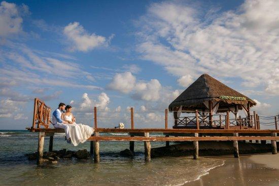 Secrets Silversands Riviera Cancun Wedding Gazebo