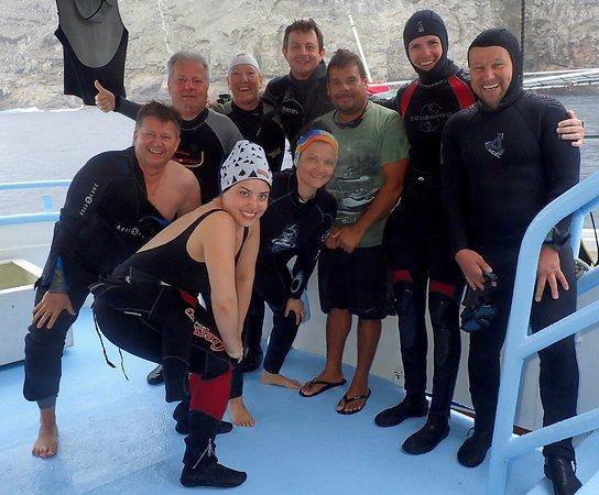 Taganga, Colombia: Guide, Skifdriver und 7 super Taucher