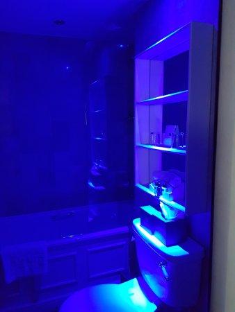 Blue Light In Bathroom For Nighttime