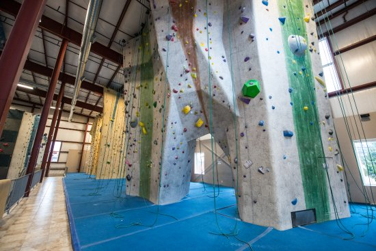 Watertown, MA: The upstairs rope climbing area (kids' area in the far back)