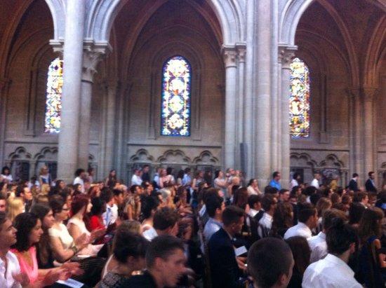 Katedral Lausanne: Inside Cathedrale de Lausanne - Baccalaureat juillet 2015
