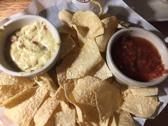 Chickasha, OK: Chips, queso and salsa.  Chicken Fried Steak with sides. Yummy