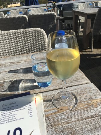 Quinta Jardins do Lago: A glass of ms Chardonnay