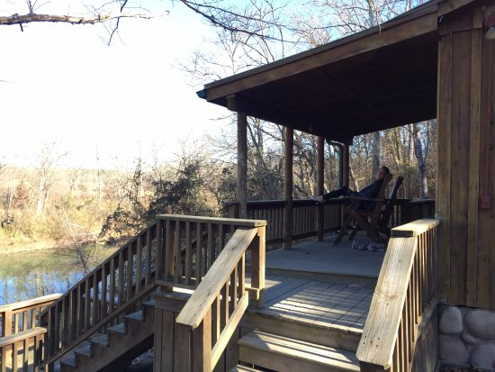 Watson, OK: Enjoying a cool morning on the deck - Riverbend cottage