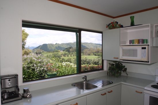 Bay of Plenty Region, New Zealand: View from the kitchen