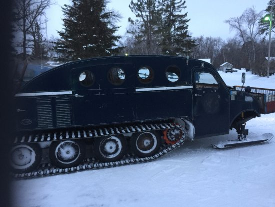 Baudette, MN: Bombardier ride to get out on the lake.