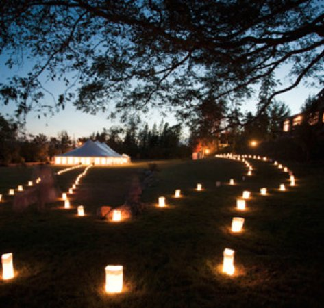 Castine, ME: Lawn wedding reception