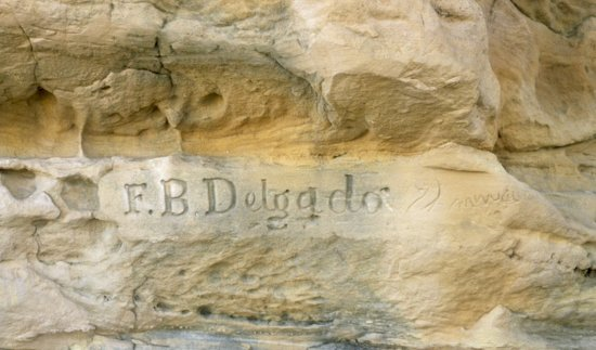 Boise City, OK: Autograph Rock, inscription of F. B. Delgado