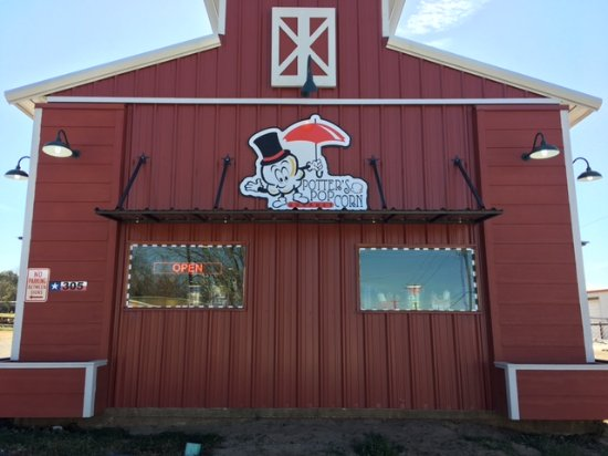 Look for the red barn across from the Fire Department on East Hubbard in downtown Lindale.