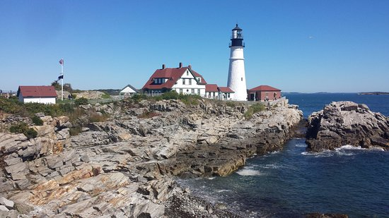 Cape Elizabeth, ME: View from the path along the shoreline