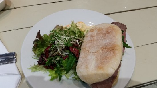 Evanton, UK: beef and horseradish panini