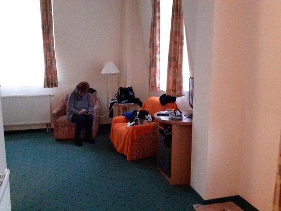 Ferien Hotel Villa Suedharz: Sammy hatte einen Sessel für sich,