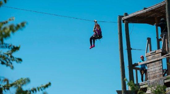 DFW Adventure Park: Zip lining tower 1