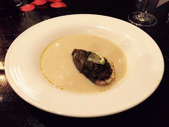Rheden, Pays-Bas : een soepje met verse kabeljouw..romige en toch pittig..goede balans