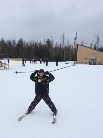 Gaylord, MI: Ski slopes/ fun-- first successful run