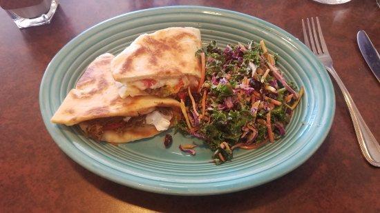 Blue Sky Cafe: Barbacoa shredded beef sandwich with kale slaw